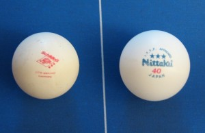 balle de ping-pong compétition