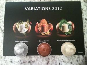 Variations Nespresso 2012