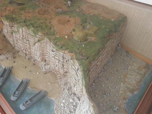 Maquette de la Pointe du Hoc au musée des Rangers